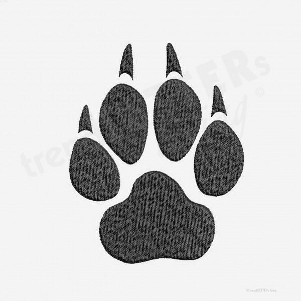 Stickmuster Pfotenabdruck Hund