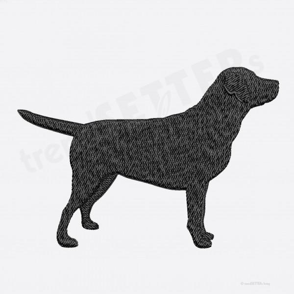 Stickmuster Labrador Ausstellungslinie