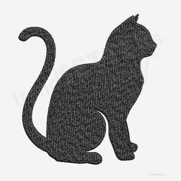 Stickmuster sitzende Katze
